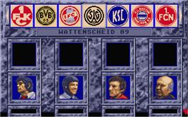In game image of Bundesliga Manager Professional on the Atari ST.
