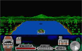 In game image of Butcher Hill on the Atari ST.