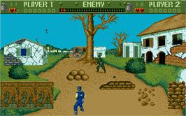 In game image of Cabal on the Atari ST.