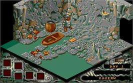 In game image of Cadaver on the Atari ST.
