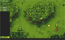 In game image of Cannon Fodder on the Atari ST.