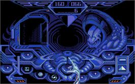In game image of Captain Blood on the Atari ST.