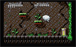 In game image of Captain Planet and the Planeteers on the Atari ST.