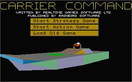In game image of Carrier Command on the Atari ST.