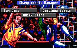 In game image of Championship Manager on the Atari ST.