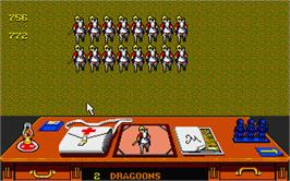 In game image of Charge of the Light Brigade on the Atari ST.