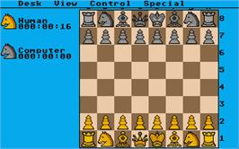 In game image of Chess Player 2150 on the Atari ST.