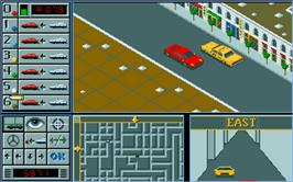 In game image of Chicago 90 on the Atari ST.
