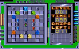 In game image of Chip's Challenge on the Atari ST.