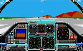 In game image of Chuck Yeager's Advanced Flight Trainer 2.0 on the Atari ST.