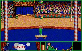 In game image of Circus Attractions on the Atari ST.