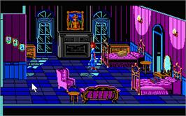 In game image of Colonel's Bequest on the Atari ST.