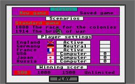 In game image of Colonial Conquest on the Atari ST.