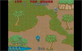 In game image of Commando on the Atari ST.
