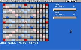 In game image of Computer Scrabble Deluxe on the Atari ST.