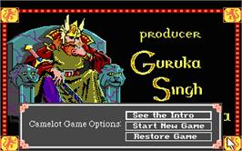 In game image of Conquests of Camelot: The Search for the Grail on the Atari ST.