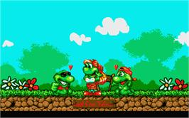 In game image of Cool Croc Twins on the Atari ST.