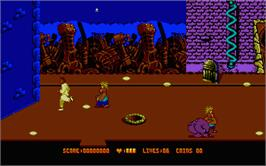 In game image of Cool World on the Atari ST.