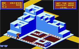 In game image of Crystal Castles on the Atari ST.