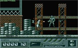 In game image of Cyber Snake on the Atari ST.