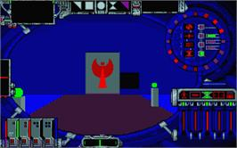 In game image of Cybercon 3 on the Atari ST.