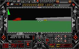 In game image of Dark Side on the Atari ST.