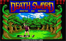 In game image of Death Sword on the Atari ST.