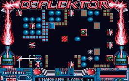 In game image of Deflektor on the Atari ST.
