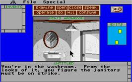 In game image of Deja Vu: A Nightmare Comes True on the Atari ST.