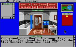 In game image of Deja Vu 2: Lost in Las Vegas on the Atari ST.
