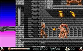 In game image of Deliverance: Stormlord 2 on the Atari ST.