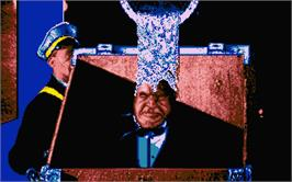 In game image of Dick Tracy on the Atari ST.