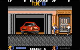 In game image of Double Dragon on the Atari ST.