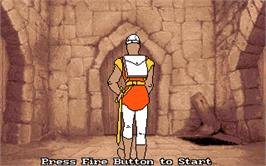 In game image of Dragon's Lair 2: Escape from Singe's Castle on the Atari ST.