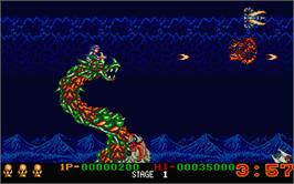 In game image of Dragon Breed on the Atari ST.