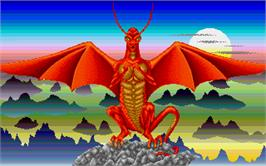 In game image of Dragonflight on the Atari ST.