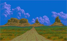 In game image of Driving Force on the Atari ST.