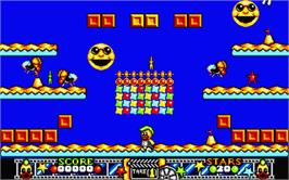 In game image of Edd the Duck on the Atari ST.