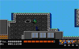 In game image of Electric Crayon Deluxe: Teenage Mutant Hero Turtles: World Tour on the Atari ST.