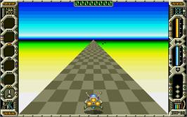 In game image of Eliminator on the Atari ST.
