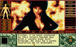 In game image of Elvira 2 on the Atari ST.