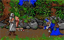 In game image of Enchanter on the Atari ST.