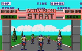 In game image of Enduro Racer on the Atari ST.