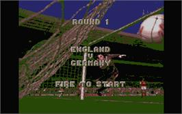 In game image of European Championship 1992 on the Atari ST.