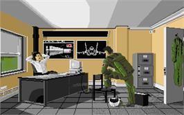 In game image of F-16 Combat Pilot on the Atari ST.
