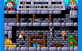 In game image of Fantasy World Dizzy on the Atari ST.