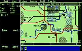 In game image of Fire Brigade on the Atari ST.