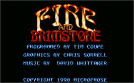 In game image of Fire and Brimstone on the Atari ST.