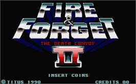 In game image of Fire and Forget 2: The Death Convoy on the Atari ST.