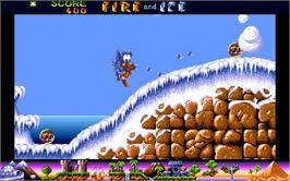 In game image of Fire and Ice on the Atari ST.